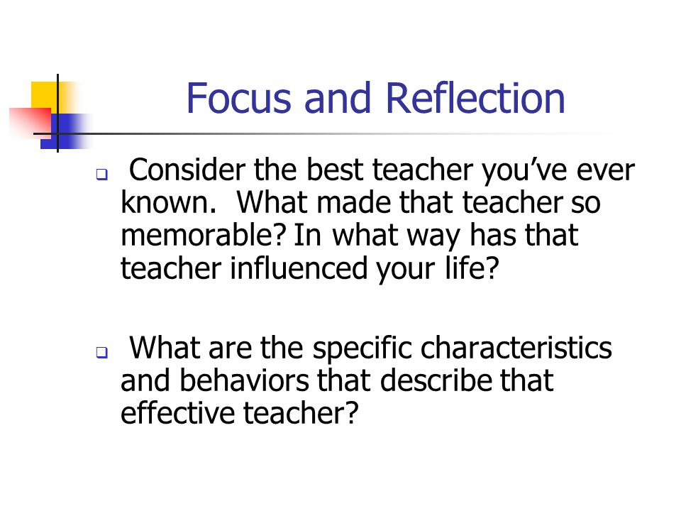 Focus and Reflection