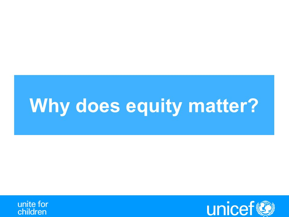 Why does equity matter