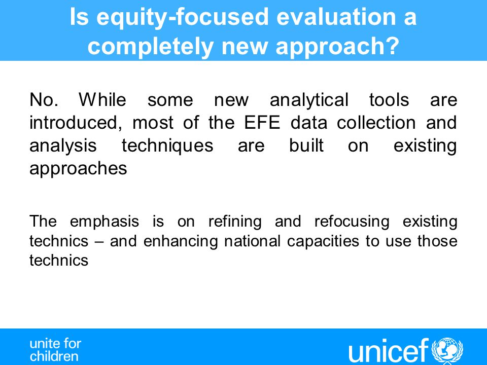 Is equity-focused evaluation a completely new approach