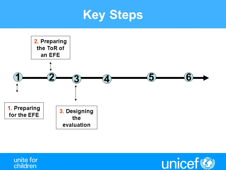 2. Preparing the ToR of an EFE 3. Designing the evaluation
