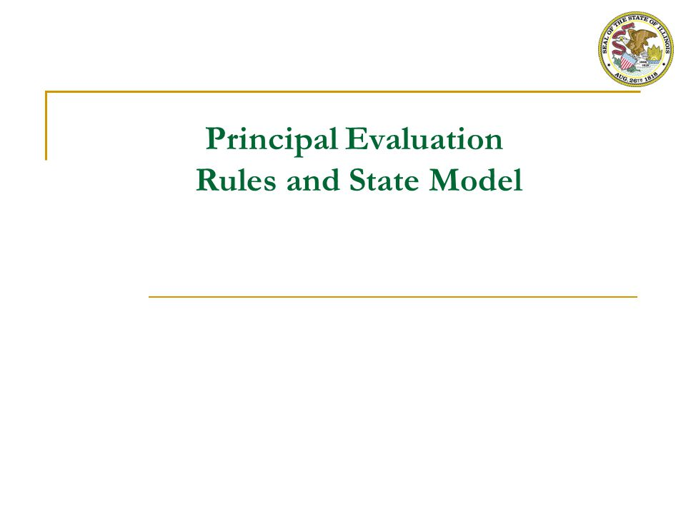 Overall PERA Requirements for Principal Evaluation