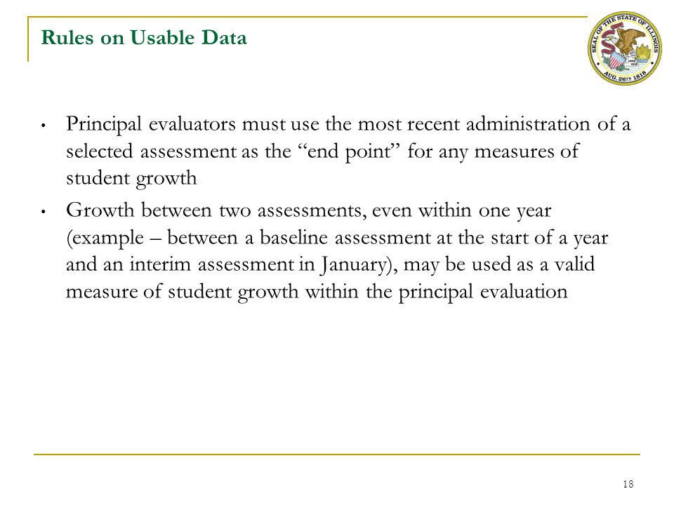 Rules for Generating a Summative Rating on Student Growth