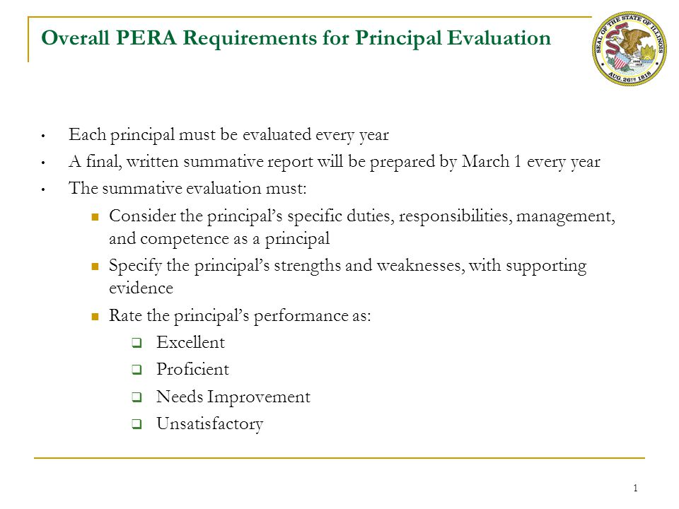 General Rules for Principal Practice