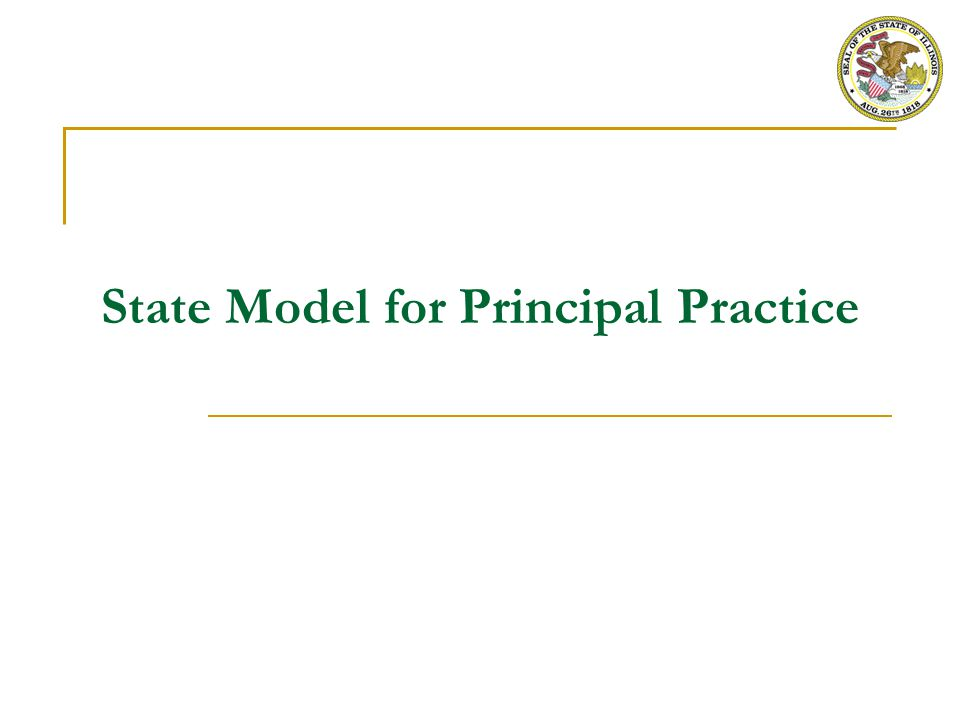 State Model – Principal Practice Instruments