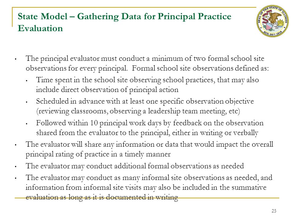 State Model – Process for Principal Practice Evaluation