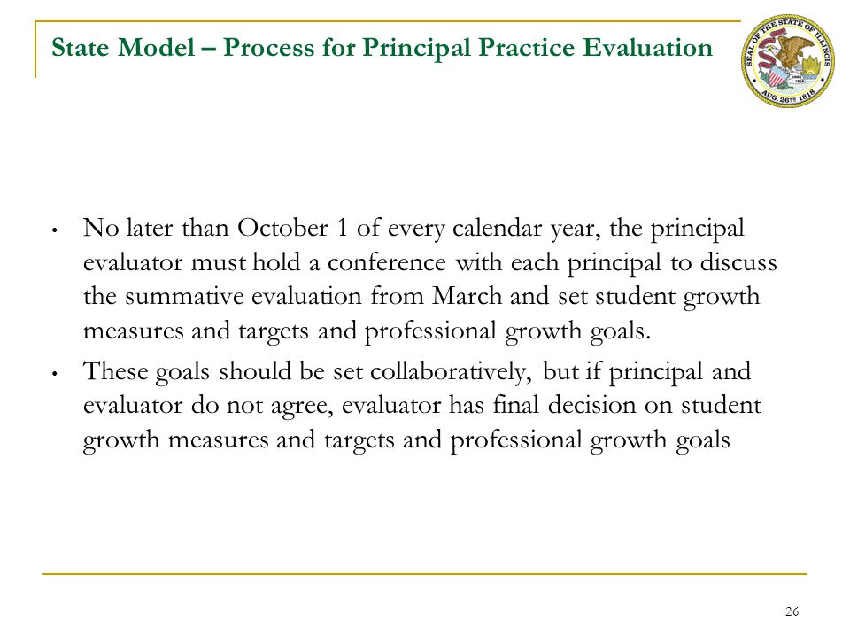 State Model – Summative Rating on Principal Practice