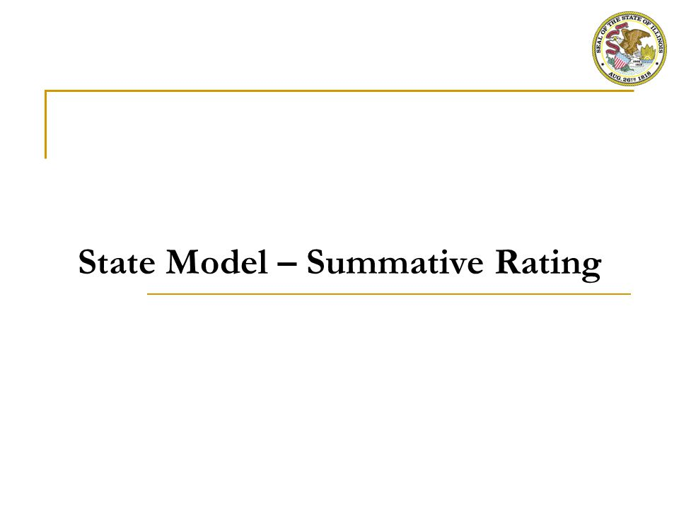 State Model - Summative Evaluation Matrix for Principal Evaluation
