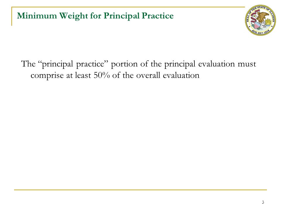 Requirements for Principal Evaluation Instruments