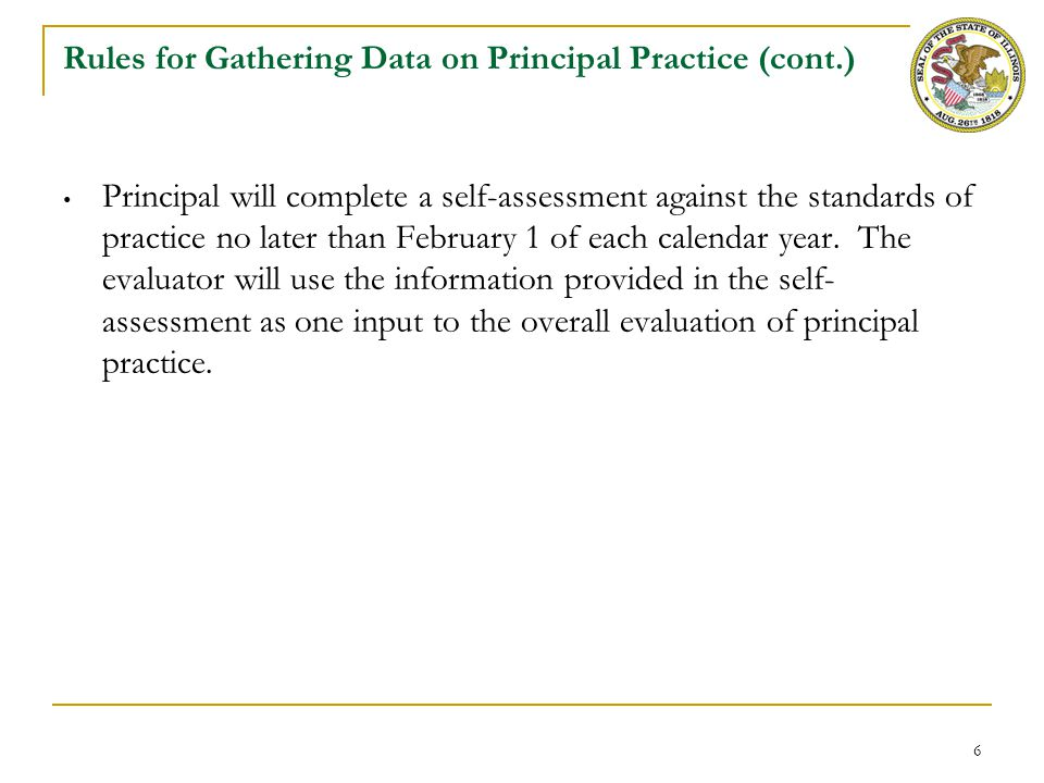 Rules for the Process of Principal Practice Evaluation