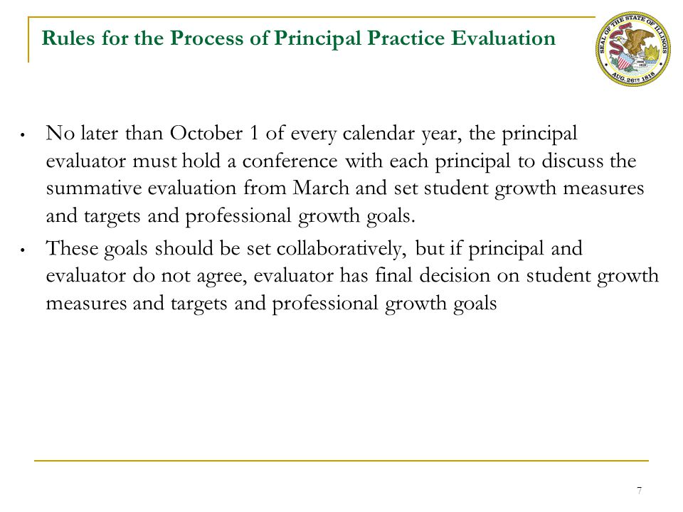 Rules for the Summative Rating of Principal Practice