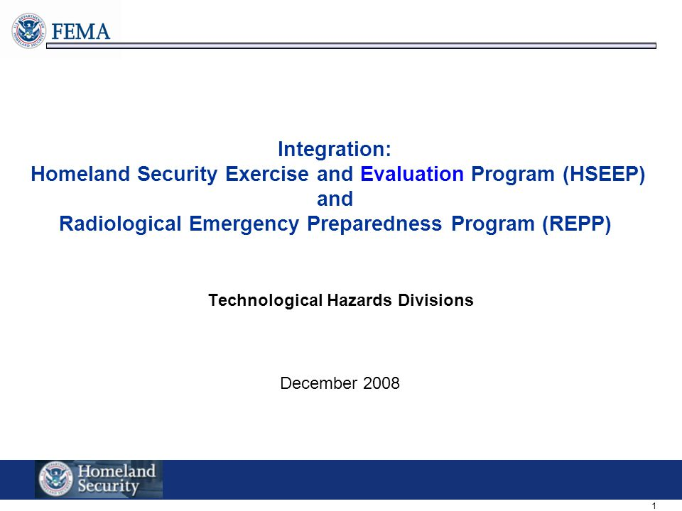 Technological Hazards Divisions