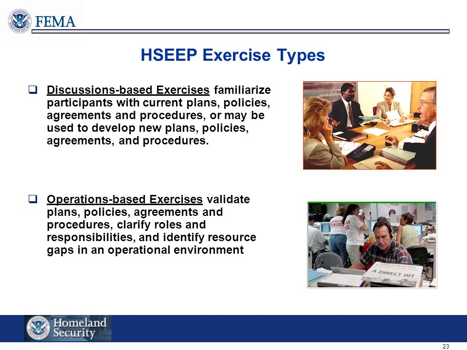HSEEP Exercise Types