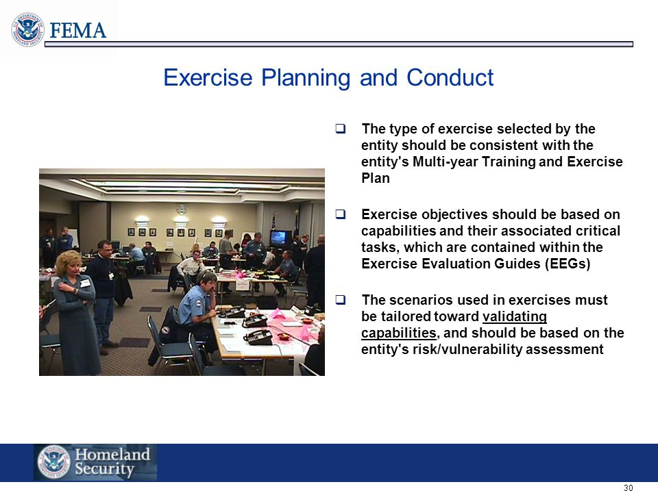 Exercise Planning and Conduct