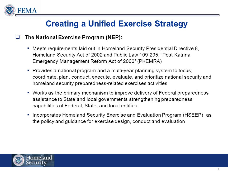 Creating a Unified Exercise Strategy