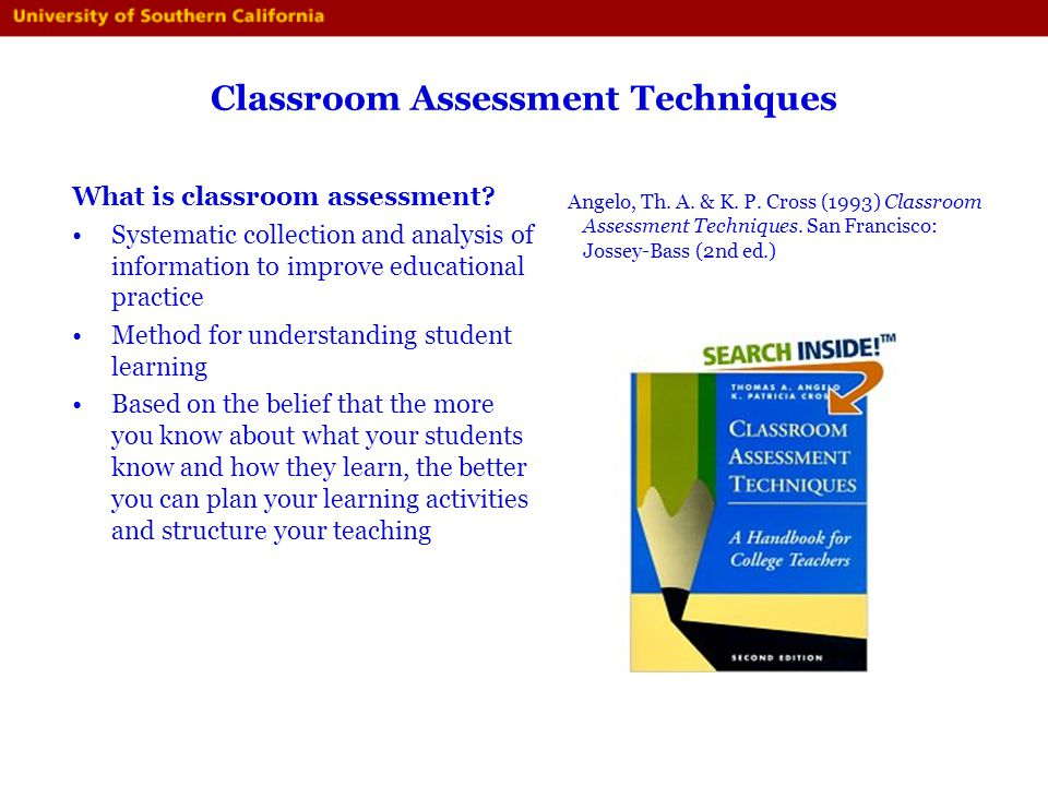 Innovative Classroom Assessment Techniques ~ Course assessment and student learning outcomes ppt download