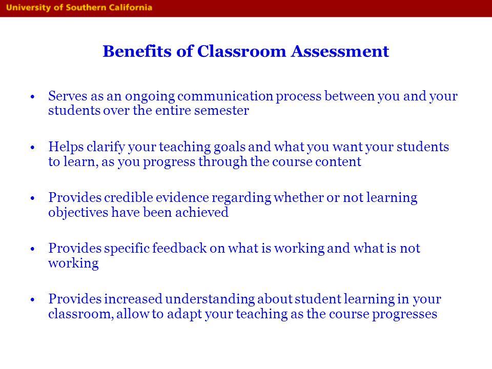 Benefits of Classroom Assessment