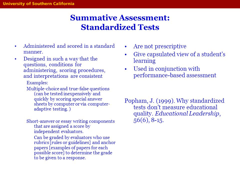 do high stakes assessments improve learning essay Exit programs in order to improve performance indeed learning or educational achievement reconsidering the impact of high-stakes testing, is similar to that of amrein and berliner like hanushek and raymond.