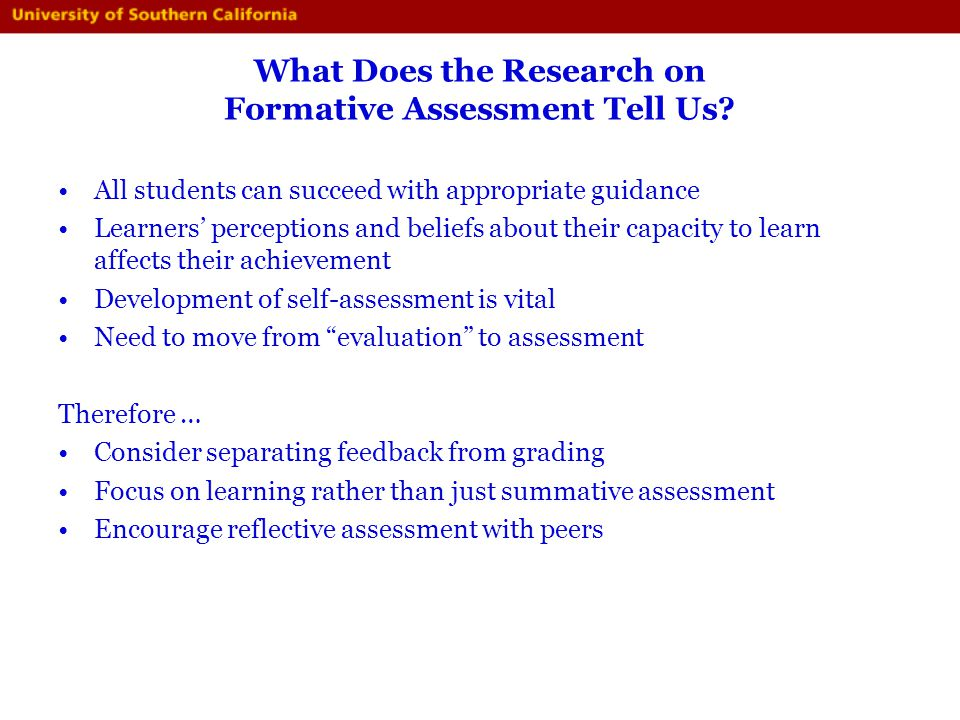 What Does the Research on Formative Assessment Tell Us