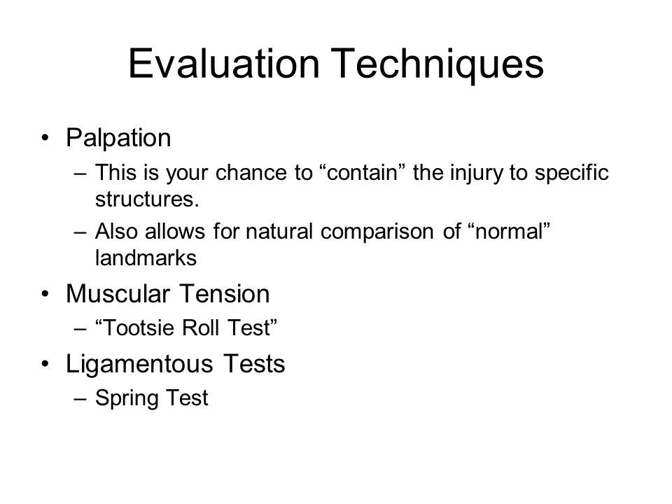 Evaluation Techniques