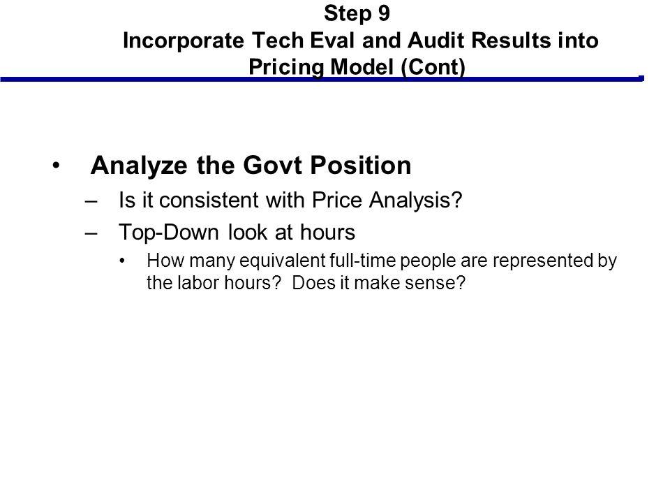 Analyze the Govt Position