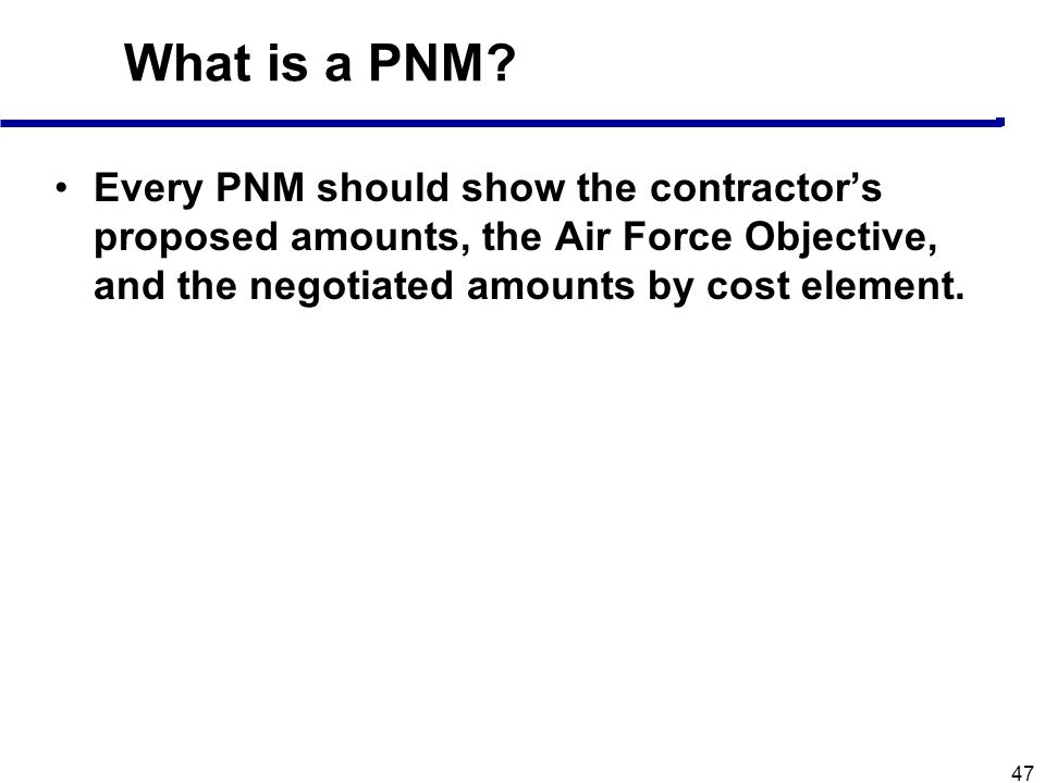 What is a PNM.