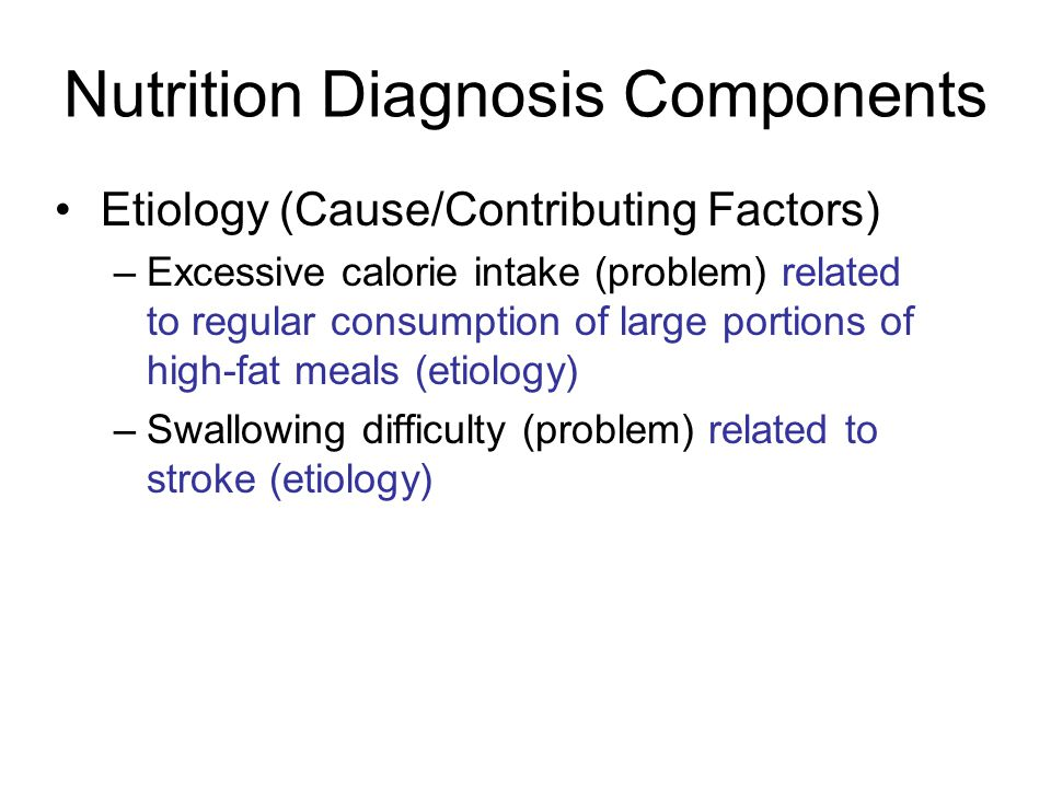 Nutrition Diagnosis Components