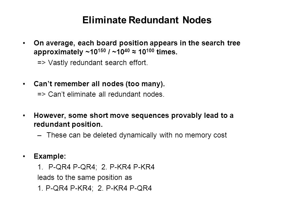 Eliminate Redundant Nodes