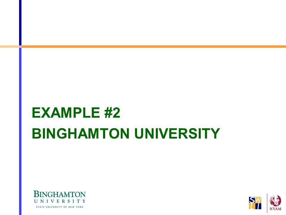 EXAMPLE #2 BINGHAMTON UNIVERSITY