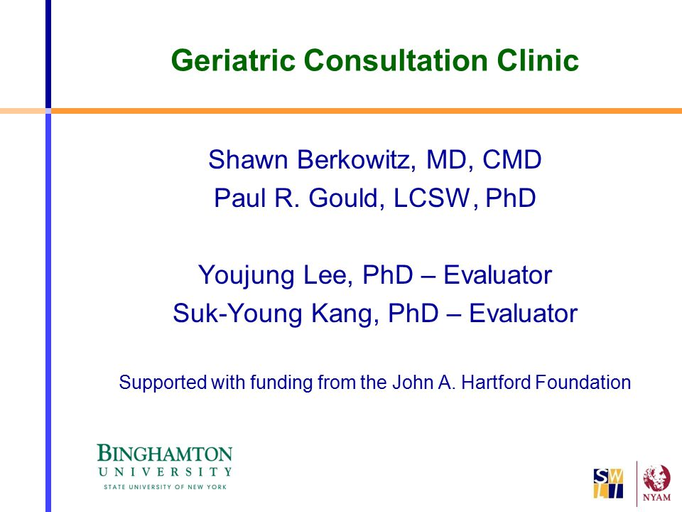 Geriatric Consultation Clinic