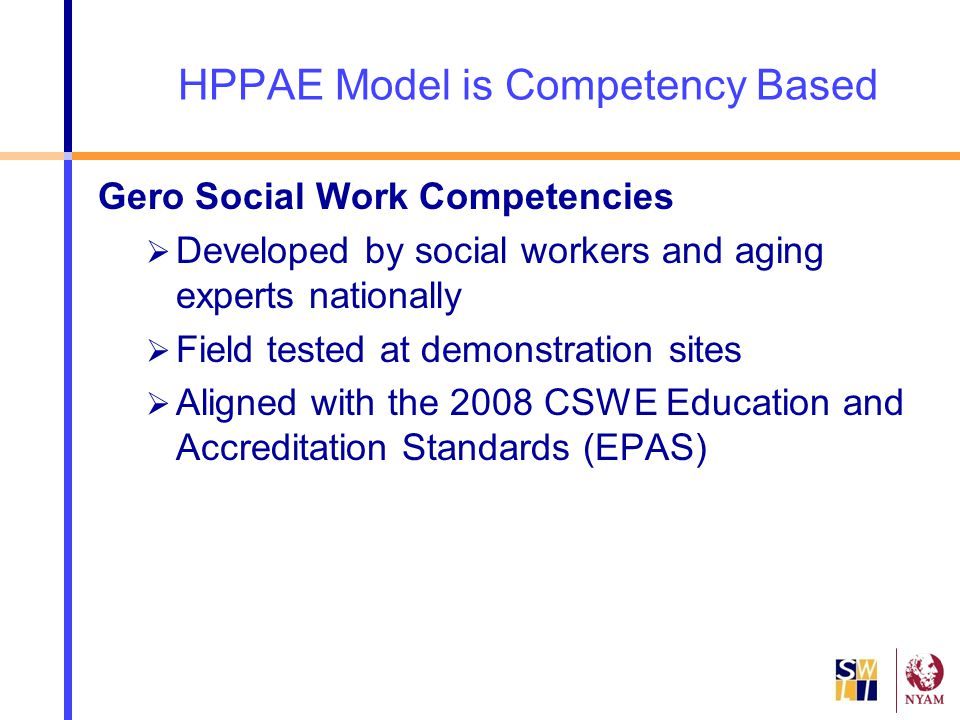HPPAE Model is Competency Based