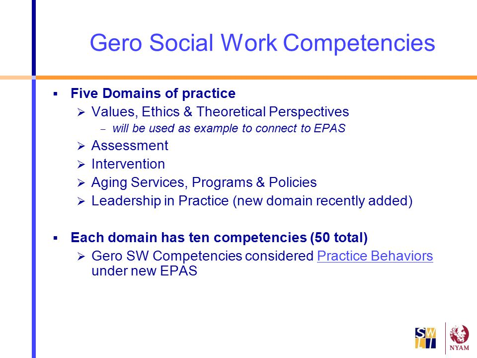 Gero Social Work Competencies