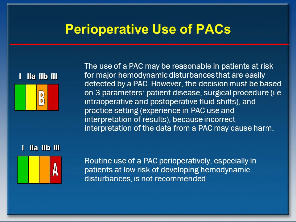 Perioperative Use of PACs
