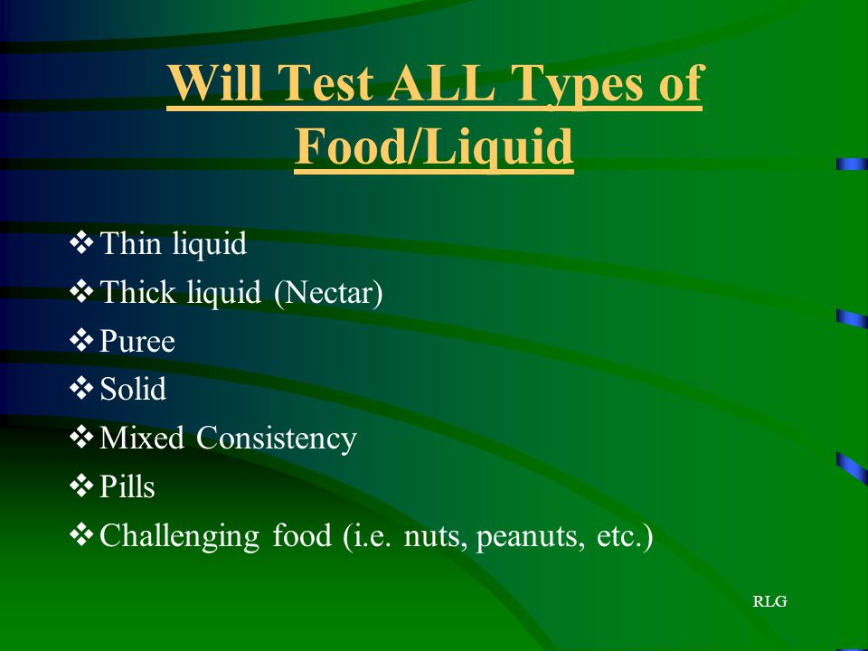 Will Test ALL Types of Food/Liquid