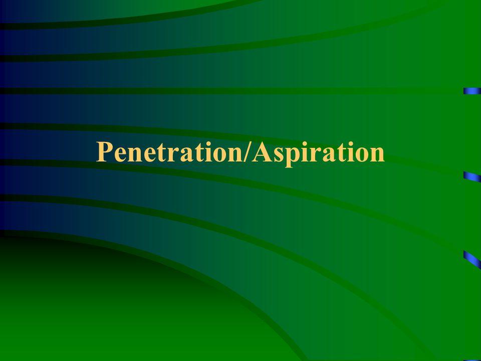 Penetration/Aspiration