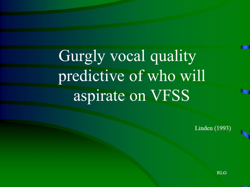 Gurgly vocal quality predictive of who will aspirate on VFSS