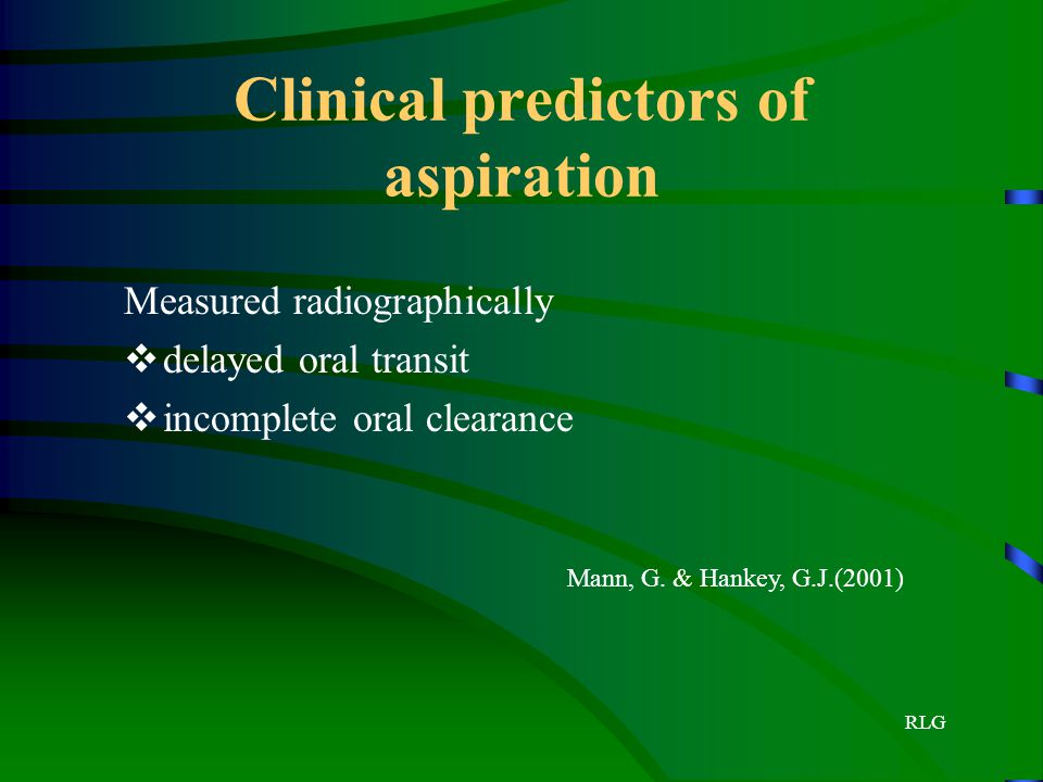 Clinical predictors of aspiration