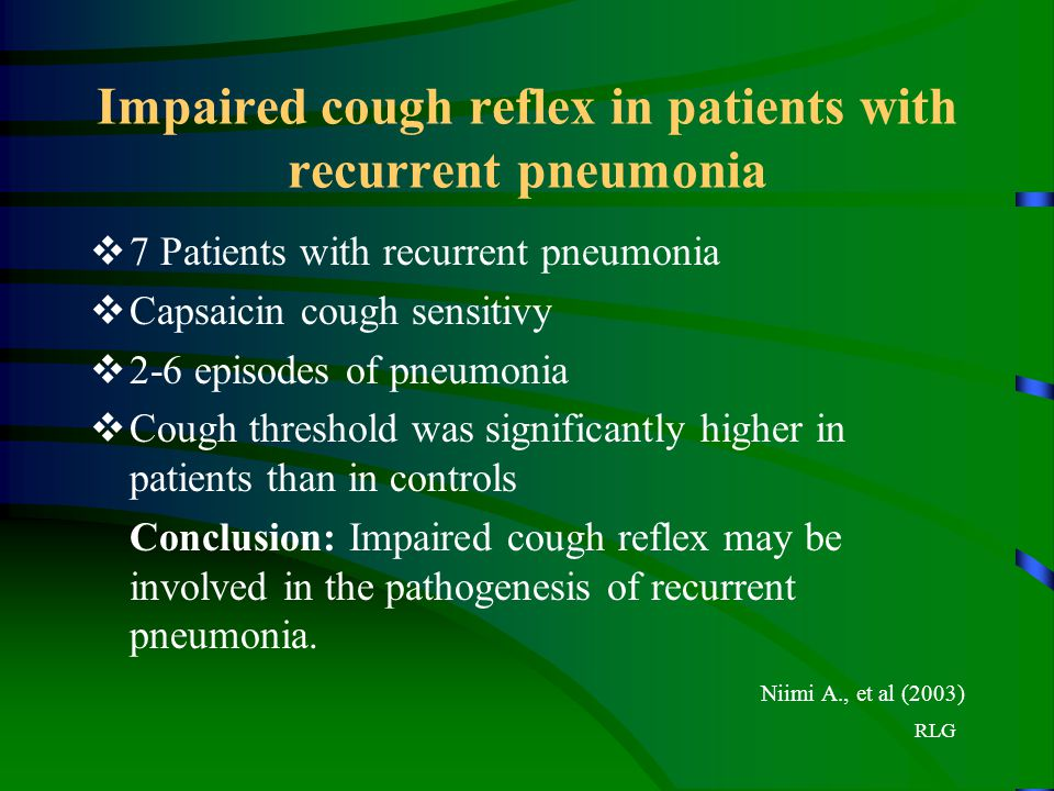 Impaired cough reflex in patients with recurrent pneumonia