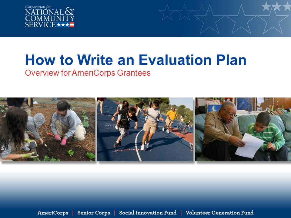 How to Write an Evaluation Plan