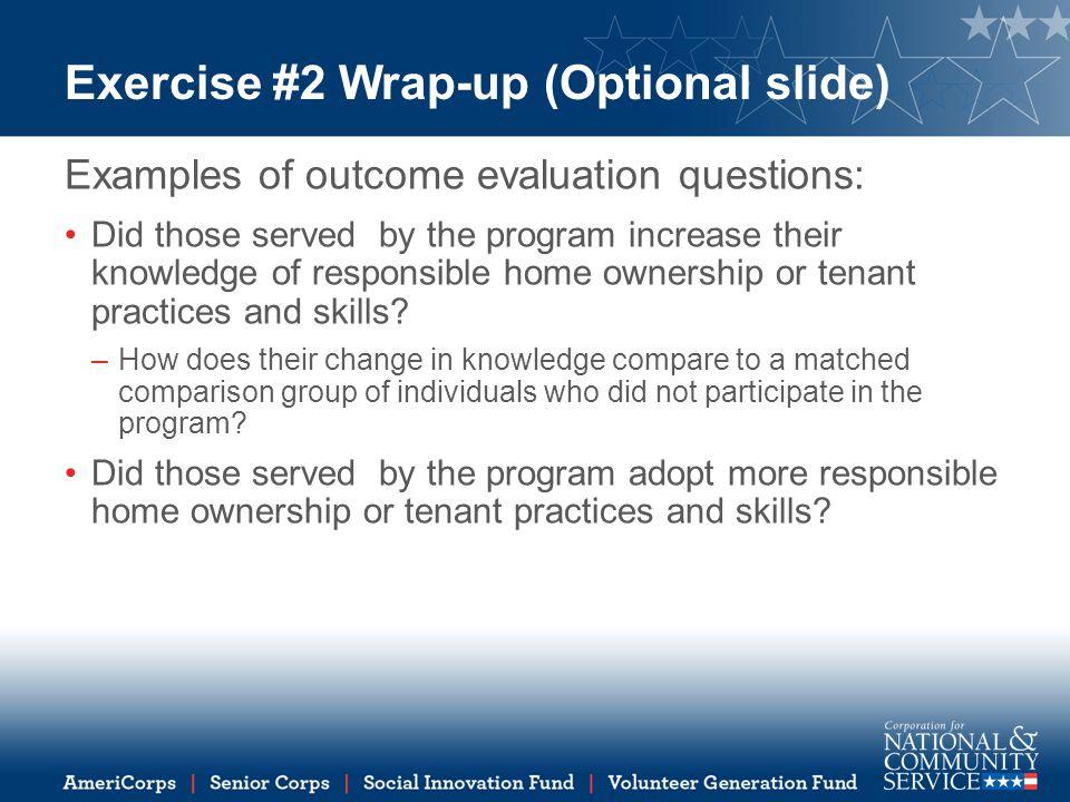Exercise #2 Wrap-up (Optional slide)