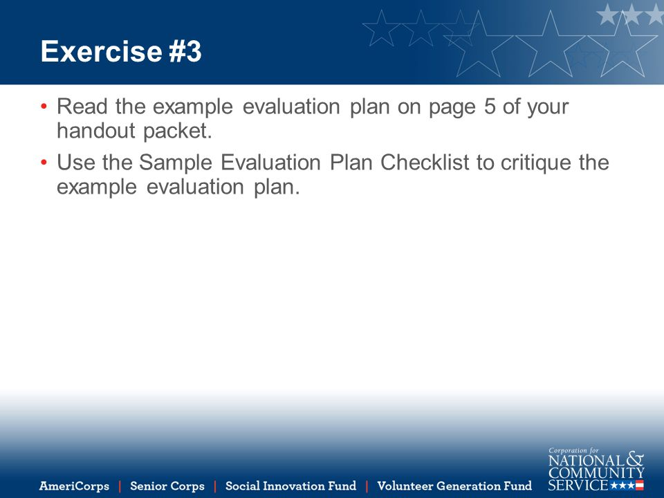 How to Write an Evaluation Plan ppt download – Evaluation Plan