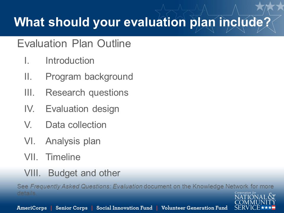 How To Write An Evaluation Plan  Ppt Download