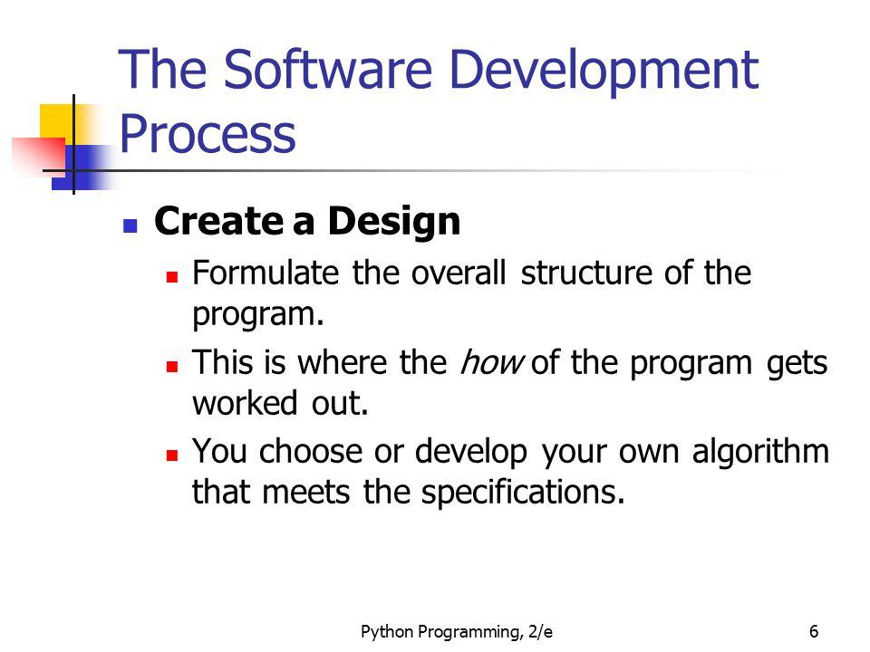 The Software Development Process