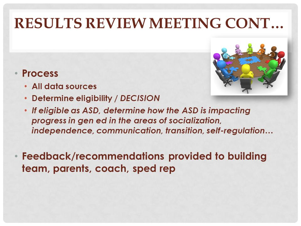 Results Review Meeting cont…