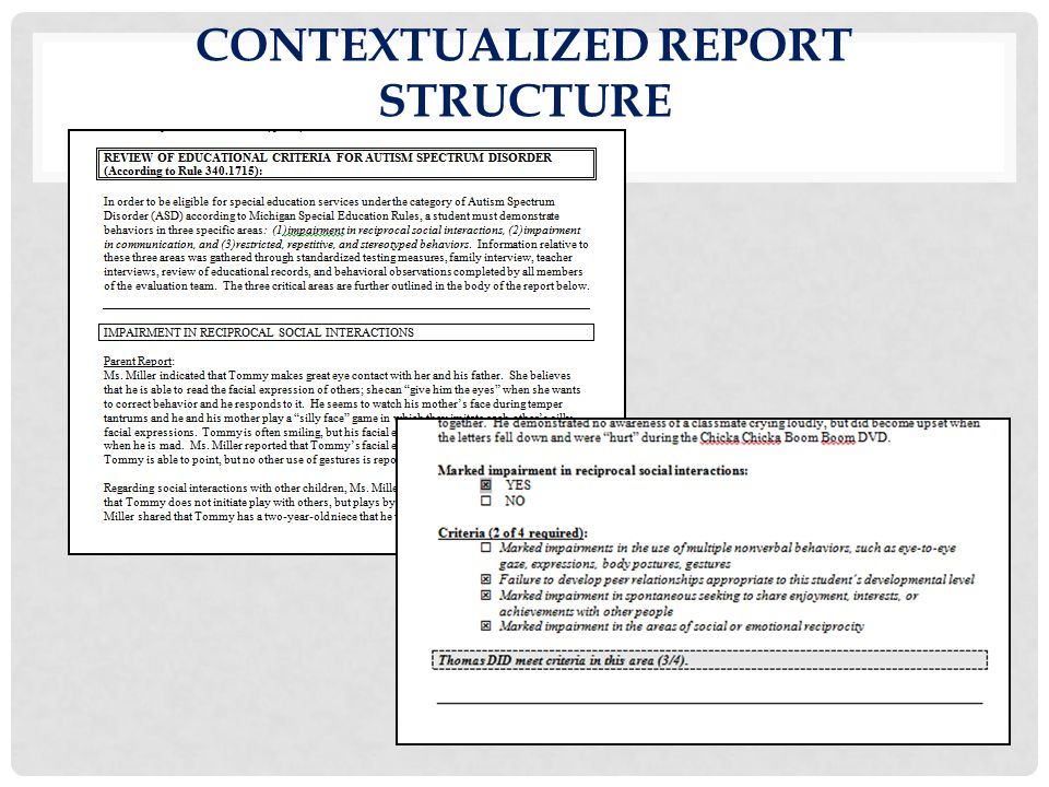Contextualized Report Structure