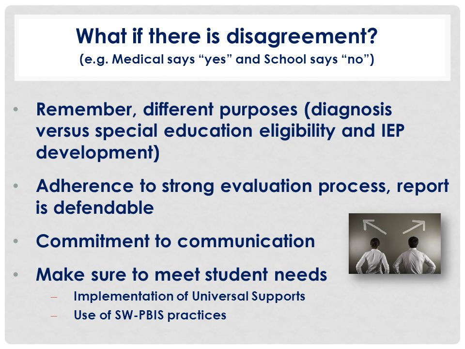 What if there is disagreement