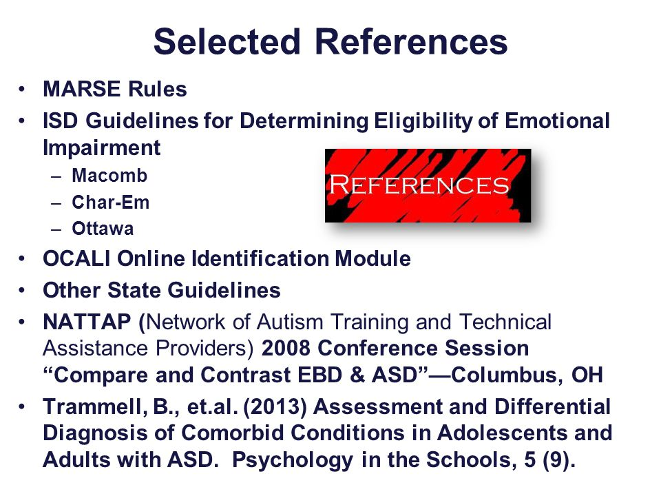 Selected References MARSE Rules