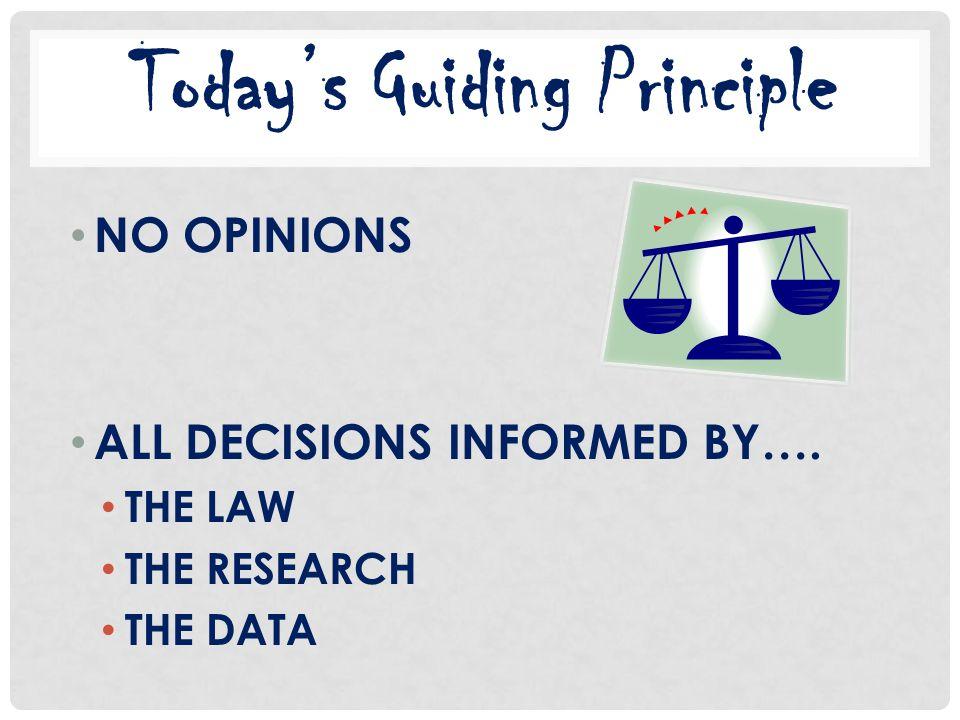 Today's Guiding Principle