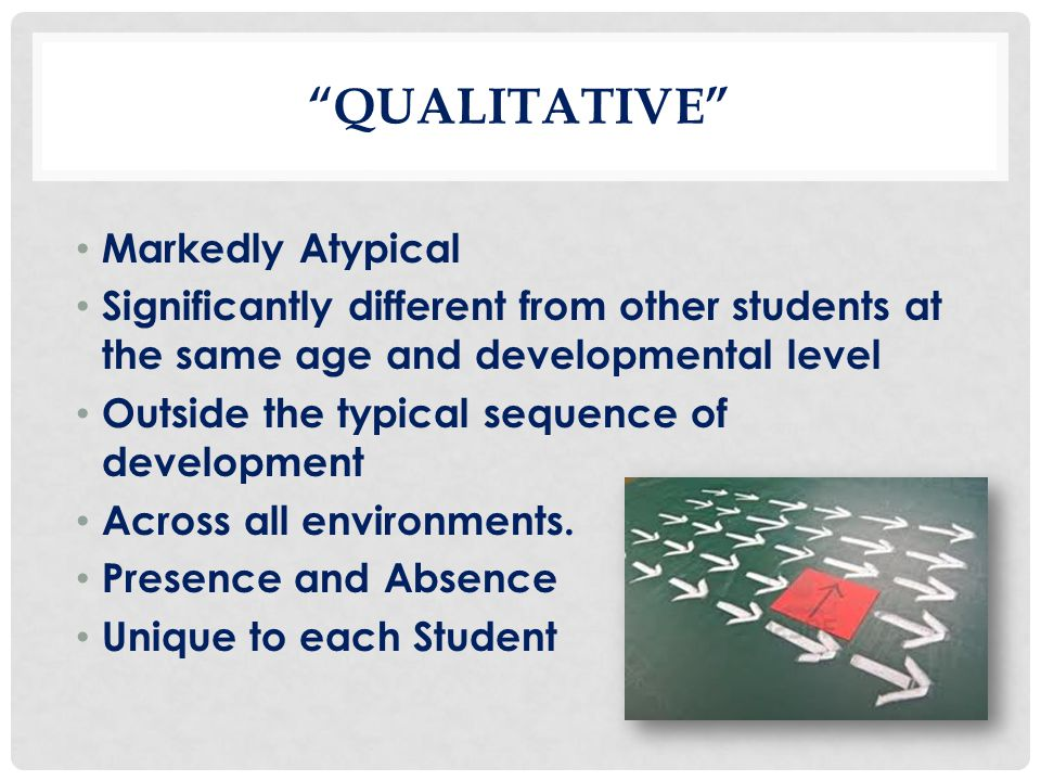 Qualitative Markedly Atypical