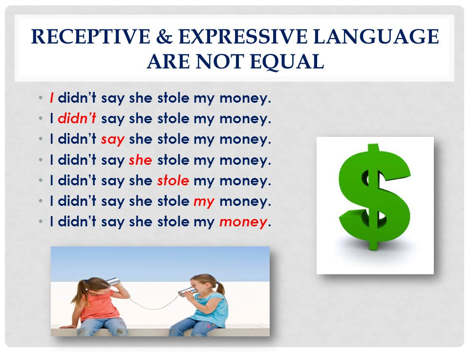 RECEPTIVE & EXPRESSIVE LANGUAGE are not equal