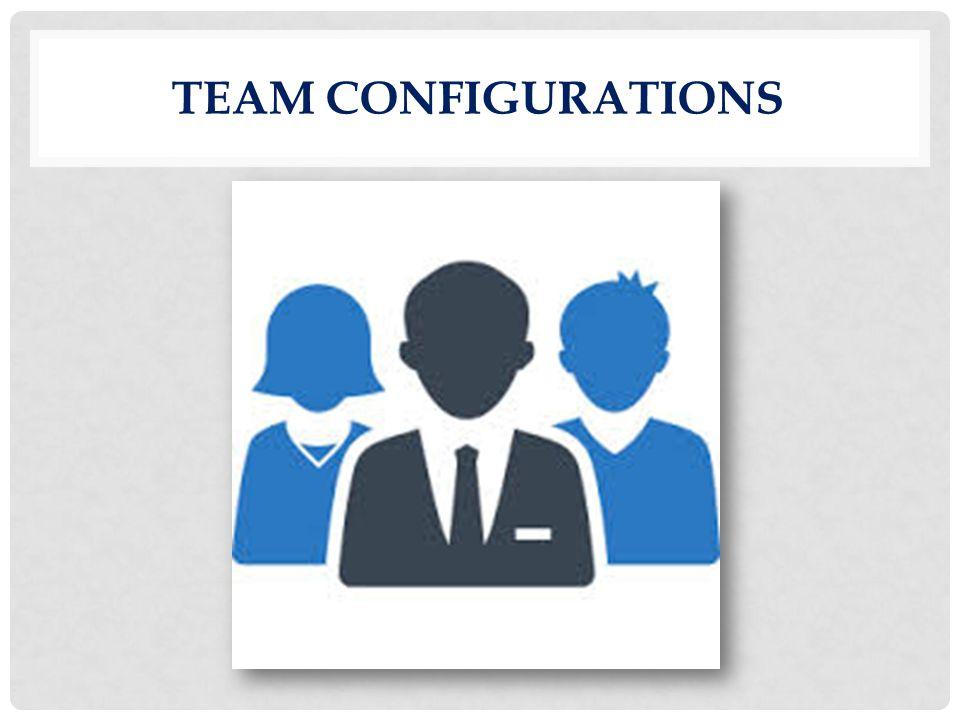 Team configurations